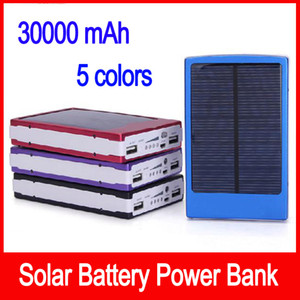 Wholesale Portable solar battery charger mah LED Darkening portable solar power bank solar power bank SOS help for Mobile Phone Tablet MP4