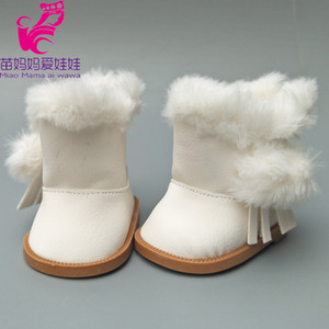 18 inch American Girls Dolls Fur Snow Boots shoes for Alexander doll accessory baby born doll winter shoes girl gift