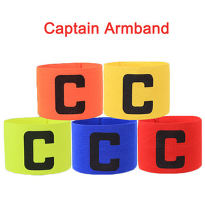 Football Soccer Captain Armband Elastic Fabric Captain's Armband Player Bands for Adult Futbol Practice Camp School Soccer Team