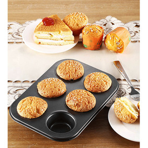 Wholesale cupcake pans for sale - Group buy 6 Cups DIY Cake Baking Pan Non stick Steel Cupcake Mold Egg Tart Muffin Bakeware Cake Mould Non Stick Cups BBA318