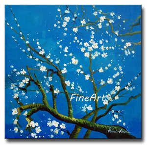 hand-painted oil wall discount vincent van gogh Blue Branches oil painting famous paintings reproduction wall painting ideas home decoration