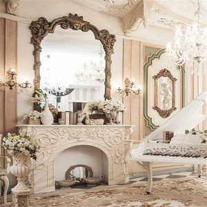 European Style Home Photography Background Printed Dressing Table White Piano Vintage Floral Carpet Wedding Photo Studio Backdrops on Sale