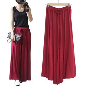 2018 large size women's modal loose pants yoga casual pants women's wide leg pants