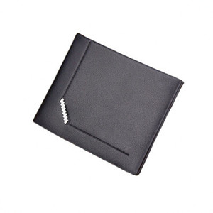 Wholesale Fashion Men s short embossed wallet High quality PU fabric leather clutch Multi card holder wallet money clamps
