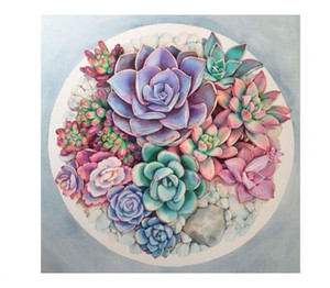 2018 DIY Diamond Succulent plants Diamond Painting 5D Diamond Cross Stitch Needlework Rhinestone Plastic Crafts Painting