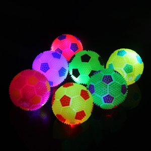 Elastic Vent Ball Led Luminescence Children Creative Toys Press Sounding Plush Football Design Multi Color Toy New Style