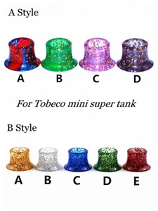 Wholesale super tank atomizer resale online - 2 Styles Mini Super Tank Epoxy Resin Shiny Shine Drip Tips Shining Mouthpiece For Tobeco MINI SUPERTANK Drip Tip Wide Bore Vape Atomizer