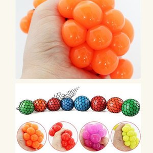 Wholesale Squeeze Toys Squishy Mesh Ball Grape Squeeze Toy Grapes Anti Stress Squeeze Toy Novelty Anti Stress Gadget Random Color