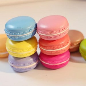 Wholesale Novelty Squishy Toys Kawaii pc Kawaii Soft Dessert Macaron Squishy Cute Cell Phone Charms Key Straps Random Color