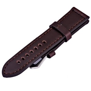 Wholesale hot leather watch strap Vintage Genuine Leather Watchband mm watchstrap brown band