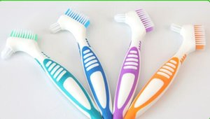 Denture Brush False tooth brush denture toothbrush soft bristles Dual brushes heads antibacterial toothbrush