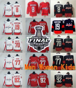 Wholesale 2018 Stanley Cup Washington Capitals 8 Alex Ovechkin TJ Oshie Evgeny Kuznetsov Braden Holtby Nicklas Backstrom Tom Wilson Men Hockey Jerseys