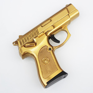 Wholesale lighter yellow for sale - Group buy Hot Cretive Gun Style usb Lighter Cool Shooting Lighter Wind Proof Lighter For Cigarette Smoking Tobacco Smok