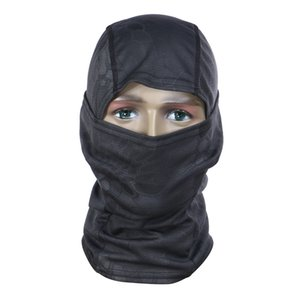 ingrosso balaclava del camuffamento-Camouflage Full Face Mask Quick dry Hood Caccia Tattico Foulard Balaclava Outdoor Bike Cycling Hat Inverno Warm Face Mask