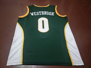 Wholesale Men #0 Russell Westbrook jersey AUTHENTIC college Vintage jersey Size S-XXXL or custom any name or number jersey