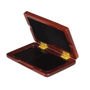 NEW Arrival Solid Wood Reed Case Wooden Holder Box for Tenor  Alto  Soprano Saxophone Clarinet Reeds, 2pcs Capacity free shipping