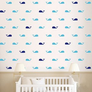 Wholesale Home Decoration Stickers Posters Stickers set Whale Decal Fish Whales Wall Sticker Cartoon Marine style DIY Decoration Wall Art