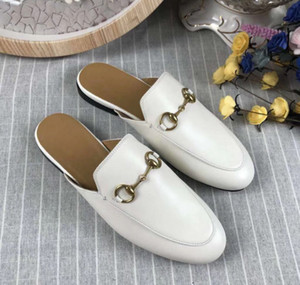 Wholesale rubber stamping resale online - 2018 high quality women s Princetown stamps leather slippers leather soles colors to