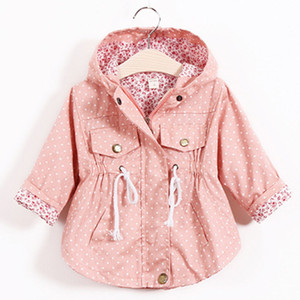 Children's Jacket Girls Outwear Casual Hooded Coats Girls Jackets School 2-8Y Baby Kids Trench Spring Autumn Factory Cost Wholesale on Sale