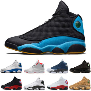 Free shipping Cheap New 13 Basketball Shoes Mens Sneakers GS Bordeaux Brand Name Men 13s Black Blue White Sports Shoes US 8-13