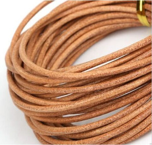 Wholesale 50m Real Genuine Leather Cord Rope String For DIY Necklace Bracelet Jewelry Making