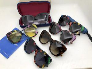New Arriva GG0327S Exquisite Butterfly style sunglasses 52-20-140 female gradient anti-UV400 Cat-eye sunglasses full-set case OEM outlet
