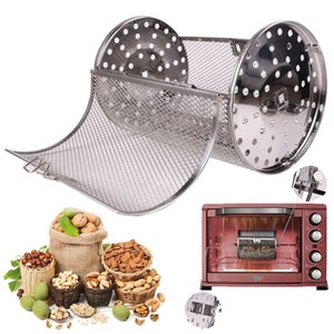 Wholesale 12X18CM Stainless Steel Oven Drum Parts Grilled Cage Rotary Oven Mesh Barbecue Roasted Coffee Bean Nut Walnut Roaster Cage