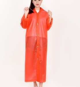 2018 custom frosted raincoat green translucent raincoat wholesale on Sale