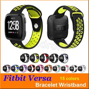 Wholesale Hot sale Sport Silicone straps Bands for Fitbit Versa Smart watch Bracelet with Ventilation Holes Replacement Wristband Wrist Bands by DHL
