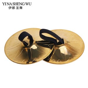 Wholesale Stage Wear Dancing Pair Professional Women Dance Accessories Copper Finger Cymbals Belly Dance Zills Egypt Tribal Belly
