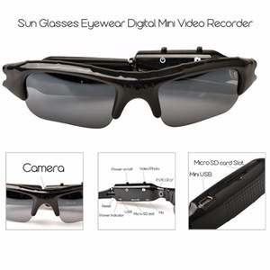 HD Mini Eyewear Sunglasses Camera Portable Audio Video Recorder Mini Sport Camera DVR DV Camcorder Hidden Bicycle Skate Record Cameras