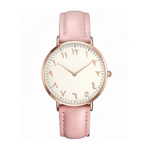 Wholesale 2018 Top Women Watches Fashion Ultra Thin Arabic Numerals Quartz Wrist Watches Ladies Dress Clock Gift