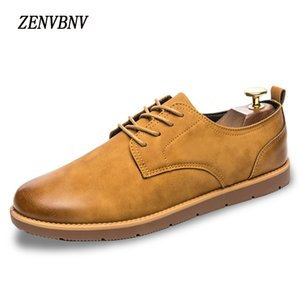 Wholesale ZENVBNV Brand Handmade Breathable Men s Oxford Shoes Top Quality Dress Shoes Men Flats Fashion Genuine Leather Casual Men