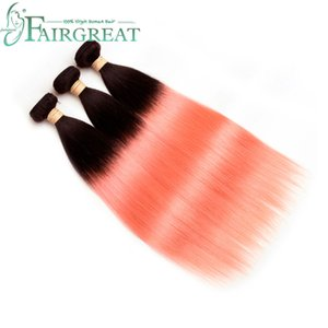 Fairgreat Brazilian Straight Human Hair Bundles #T1B Rose Gold Human Hair Bundles Brazilian Indian Malaysian Mongolian Peruvian Human Hair