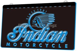 [F087] Indian Motorcycle Services Logo NEW 3D Engraving LED Light Sign Customize on Demand 8 colors