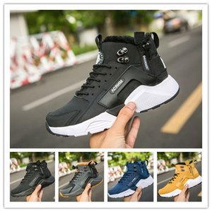 Wholesale New Air Huarache X Acronym City MID Leather High Top Huaraches Run Mens Women Trainers Running Shoes Men Huraches Sneakers Designer Shoes