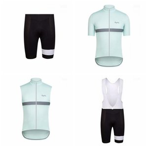 RAPHA team Cycling Short Sleeves jersey (bib) shorts Sleeveless Vest sets Hot Sale breathable and quick-drying mountain Bike Clothes Q50513