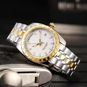 Wholesale stylish mechanical watch resale online - Men s favorite stylish and elegant classic mechanical watch Three pin series gold and silver stainless steel waterproof watch with box r