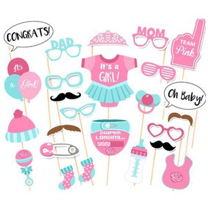 Wholesale Baby Shower Photo Booth Props Party Decoration Boy Fun st Birthday gift wedding favor PhtotoBooth props party supplies