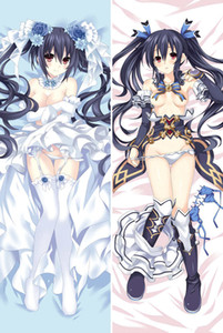 Wholesale hyperdimension neptunia for sale - Group buy choujigen game neptune anime Characters noire purple heart body pillowcase Hyperdimension Neptunia vert blanc Dakimakura