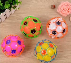 Wholesale LED Light Dance Jumping Football Music Football Bouncing Dancing Ball Children Funny Toy Crazy Magic Balls