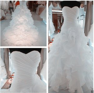 Fashion Women's Clothing Apparel High Quality Ball Gown Ruffle Wedding Dress Pageant Bridal Gowns Plus Size Dress Formal