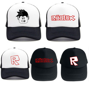 Wholesale Adjustable Game Roblox Cap Kids Baby Girl Boy Summer Sun Hats Caps Cartoon Baseball Snapback Hats Children s Birthday Party Gift