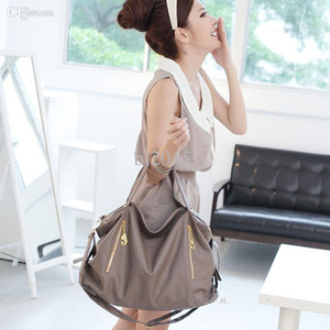 Wholesale large big double zipper hobo dumpling slouch shoulder tote bag soft leather messenger women fashion designer new arrival