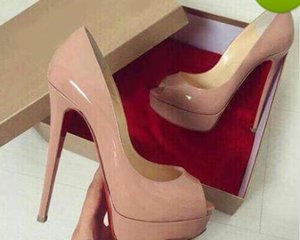 Plus Size 34-45 Red Bottom Leather diamond High Heels Peep-Toe Women Shoes Sexy Studded Red Sole Heel Woman Wedding Pumps 14cm +Original Box