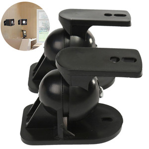 Wholesale Mayitr Black Surround Sound Speaker Wall Mount High Quality Rotatable Wall Brackets for TV