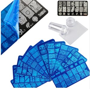 Wholesale Flower D Stamping Template Nail DIY Polish Nail stamping plates Stamper Scraper with Cap manicure Stamp for nails Art
