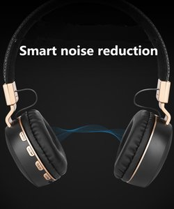 Wholesale New titanium plating strong low frequency mm analog audio headset with stereo bluetooth headsets