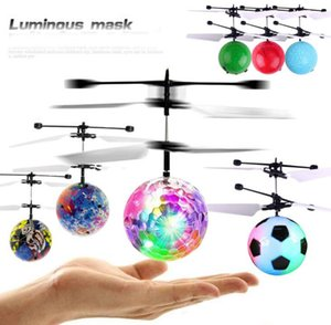 Wholesale Selfsensing aircraft Fly Ball Toys Hand Induction RC Flying Lighting Crystal Ball Sensing Aircraft Toy without remote control