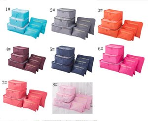 Wholesale 6 Travel makeup bag Home Luggage Storage Clothes Storage Organizer Portable Cosmetic Bags Bra Underwear Pouch Storage Bags